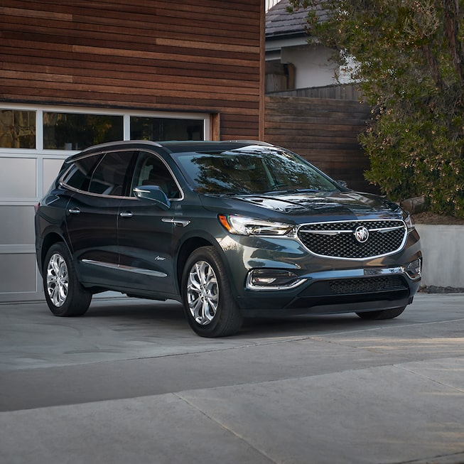 Exterior of the 2019 Buick Enclave Avenir mid-size luxury SUV.
