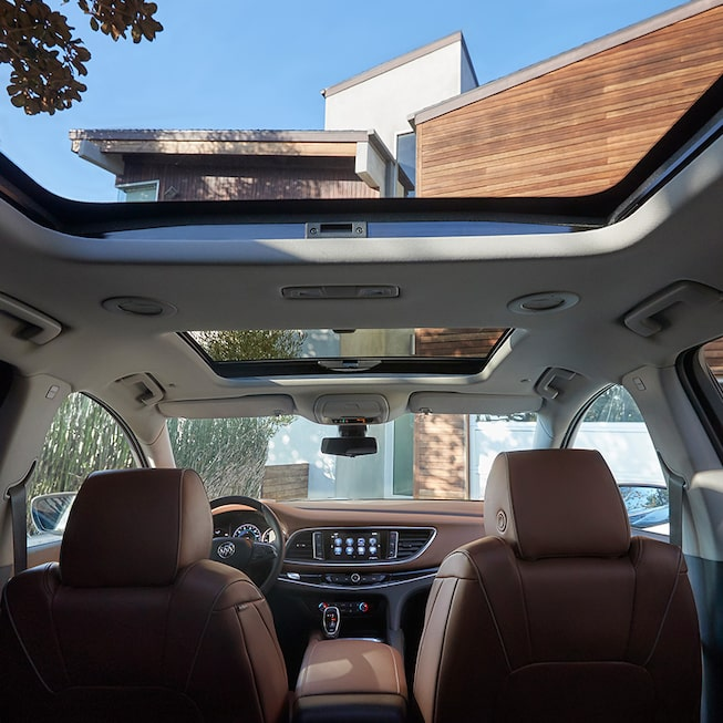 Front facing interior view of the 2019 Enclave Avenir.