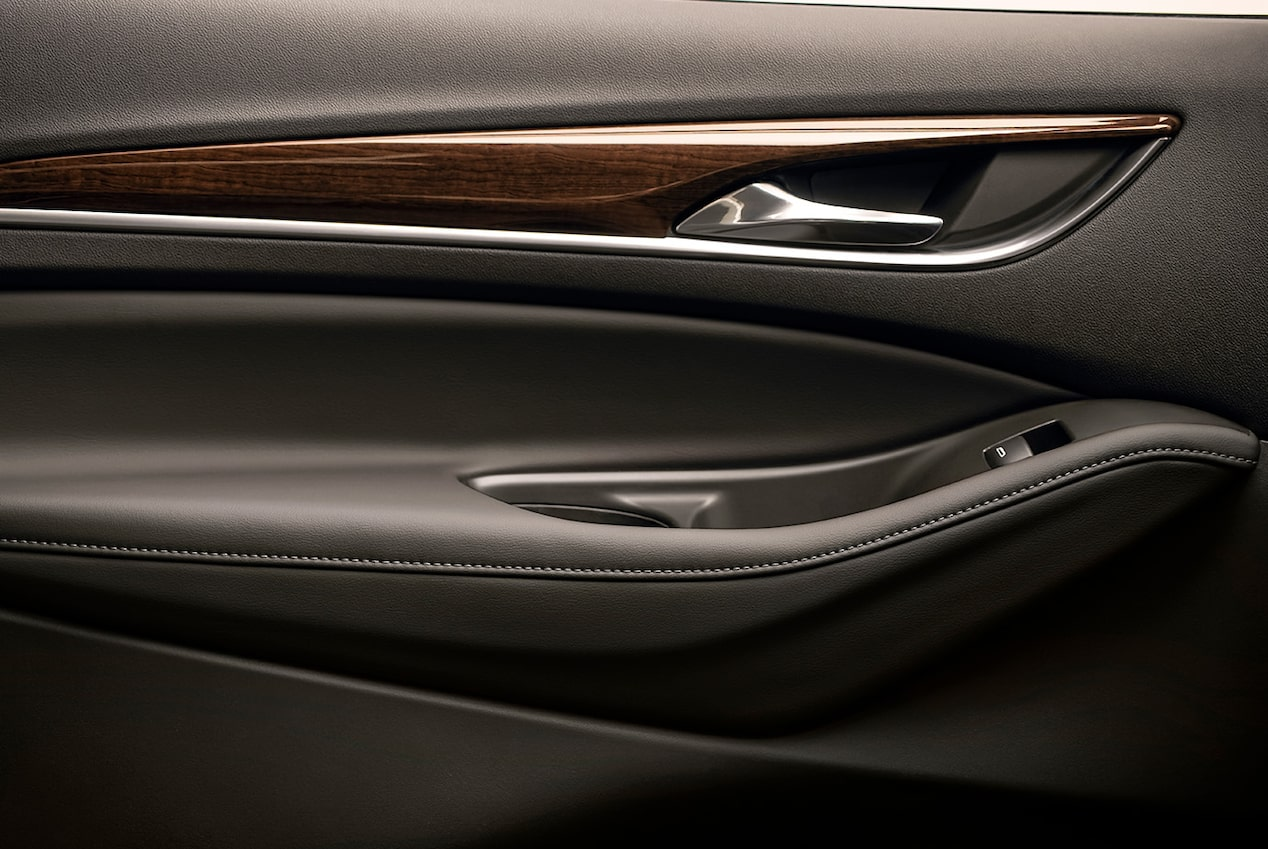 Interior of the 2019 Enclave Avenir adorned with real wood accents.