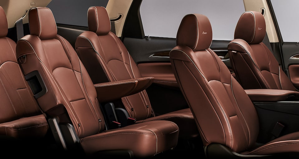 The Enclave Avenir features three rows of luxury seating.
