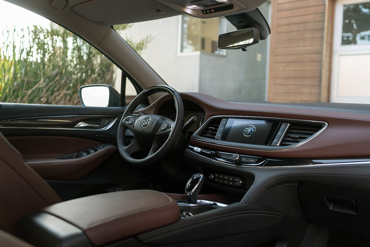 Premium materials inside the Buick Enclave Avenir mid-size luxury SUV.