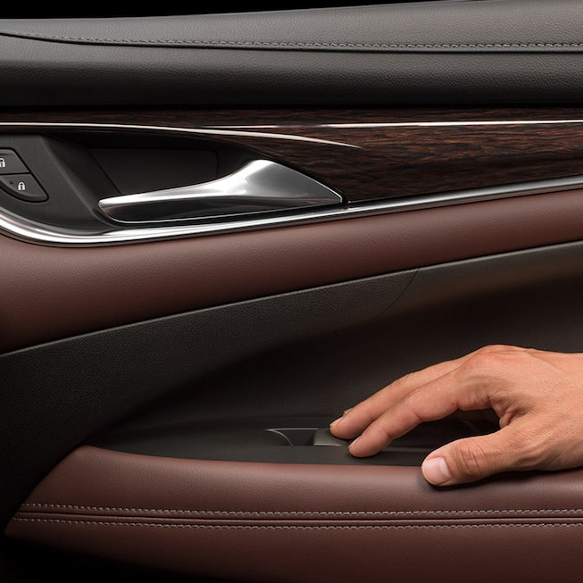 The 2019 Buick LaCrosse Avenir with exclusive Chestnut interior and Ebony accents.