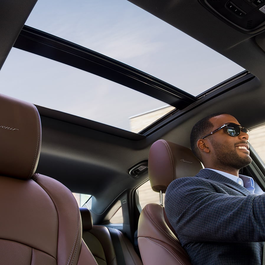 The interior premium amenities of the 2019 LaCrosse Avenir full-size luxury sedan.