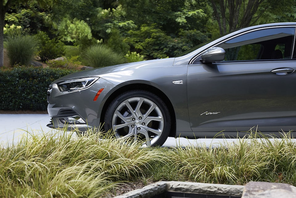 The Buick Regal with Avenir exclusive 19-inch aluminum wheels.