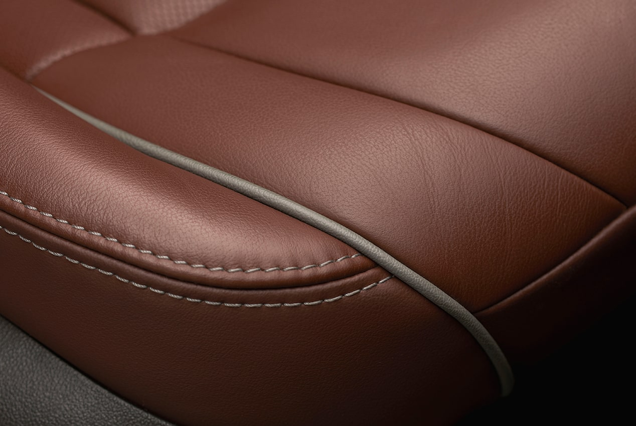 Buick Avenir's soothing surfaces: leather seating.