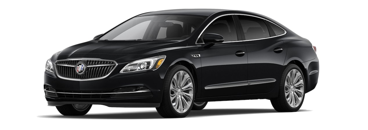 The 2019 Buick LaCrosse in Ebony Twilight Metallic.