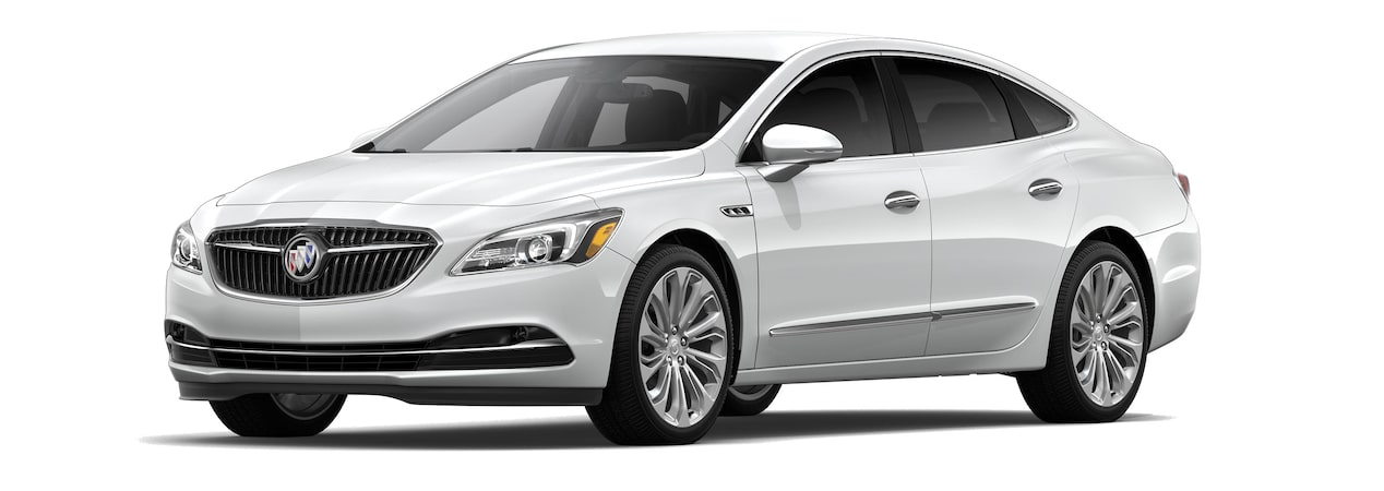 The 2019 Buick LaCrosse in Summit White.