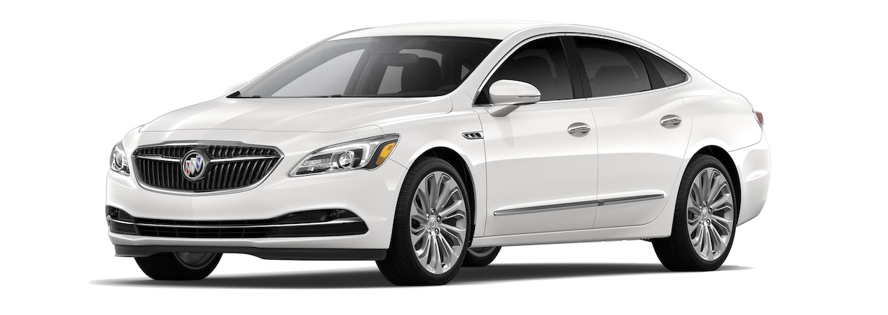 The 2019 Buick LaCrosse in White Frost Tricoat.
