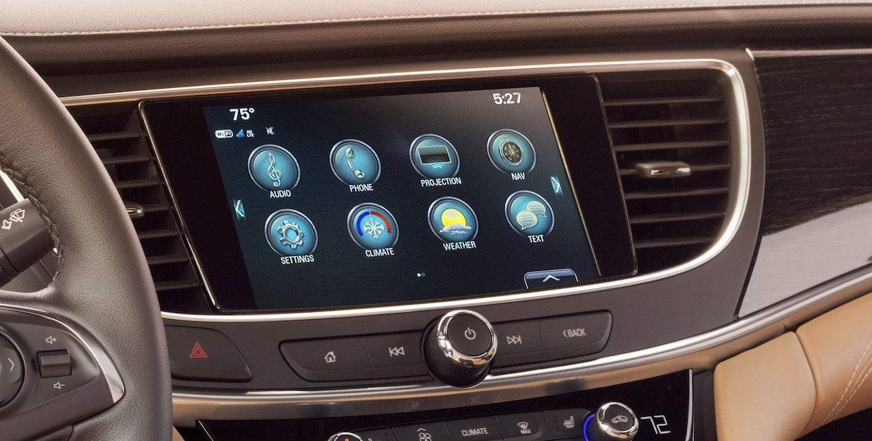 2019 LaCrosse's available Buick Infotainment System.
