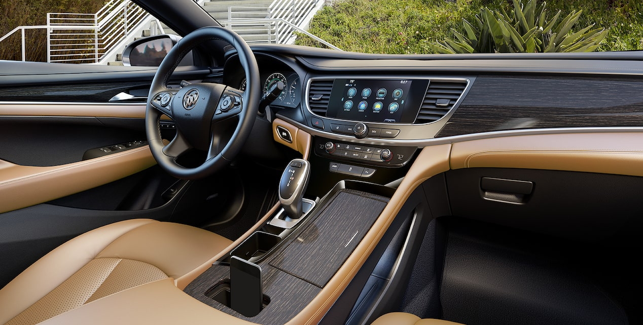 The 2019 Buick LaCrosse with available wireless charging.