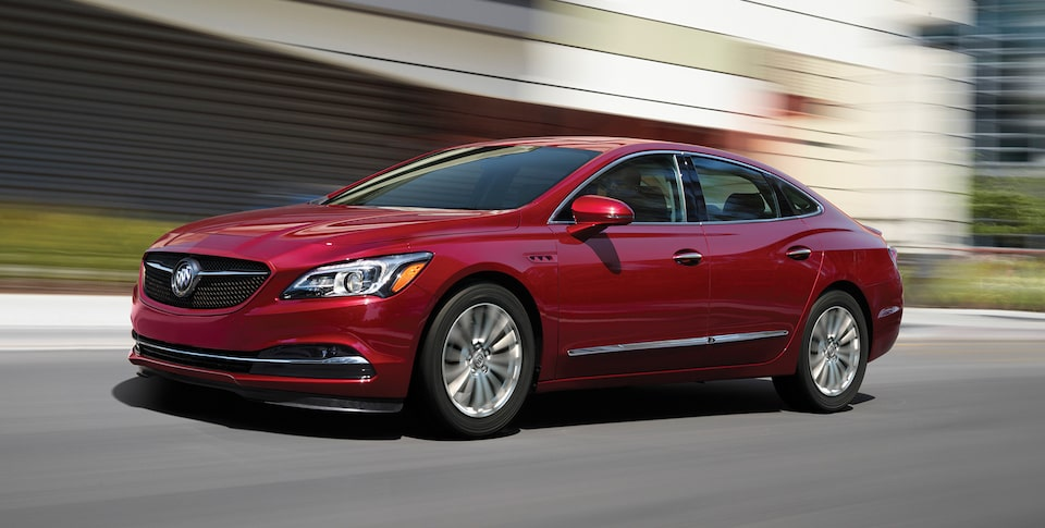 Side exterior view of the Buick LaCrosse.