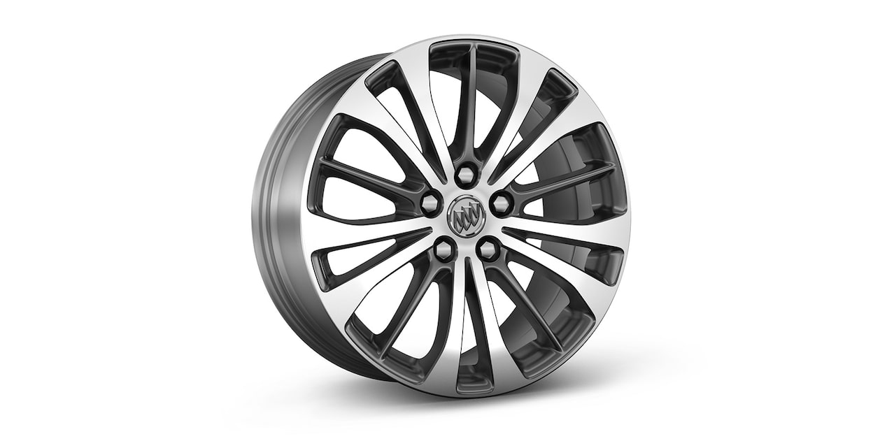 2019 LaCrosse's available 18-inch bright machined-faced aluminum wheels.