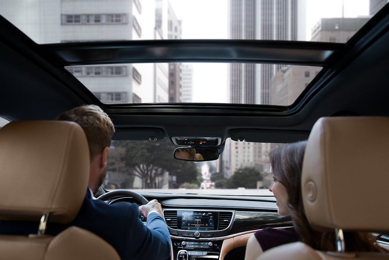 2019 Buick LaCrosse's available tilt-sliding power panoramic sunroof.