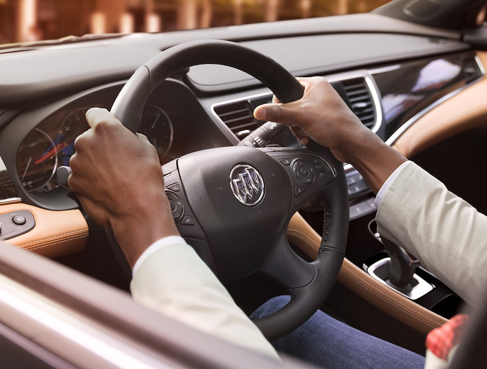 Buick LaCrosse's available heated steering wheel.
