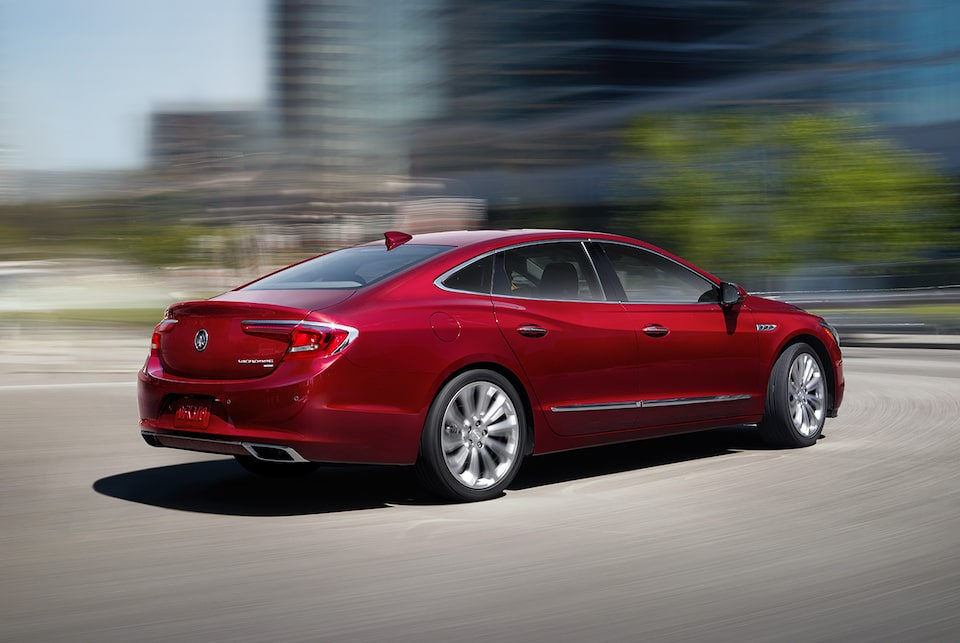 The LaCrosse full-size luxury sedan with available intelligent All-Wheel Drive.
