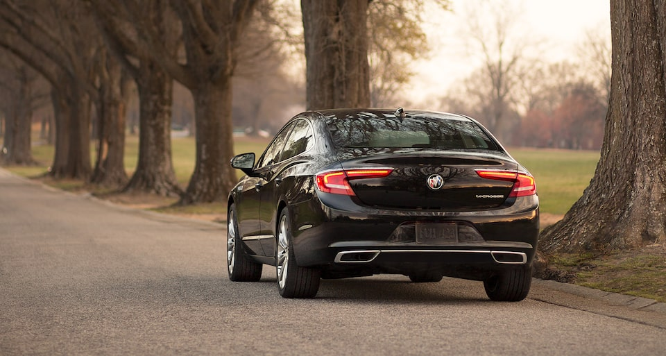 The Buick LaCrosse with standard five-link rear suspension.