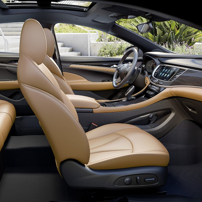 LaCrosse Premium interior: shown with leather-appointed seating for up to 5 passengers.
