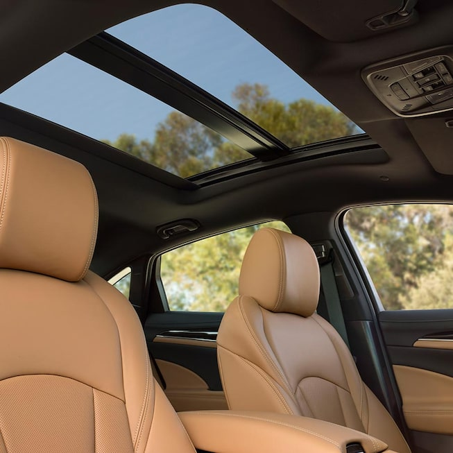 The 2019 LaCrosse full-size luxury sedan's available power panoramic sunroof.