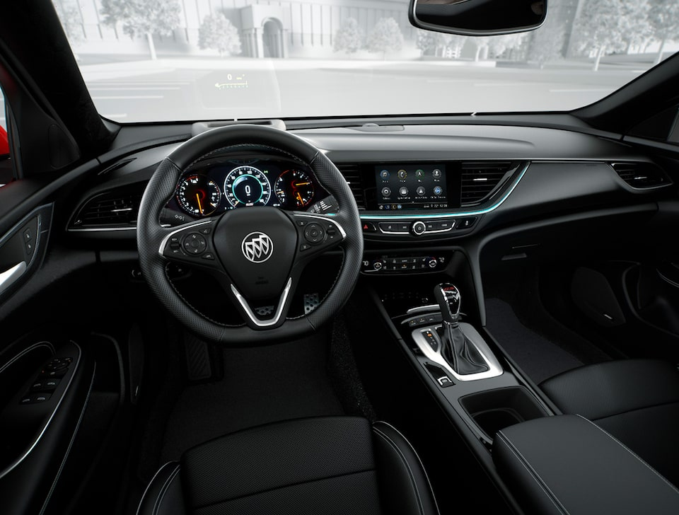 The 2019 Buick Regal GS with available multicolour Head-Up Display.