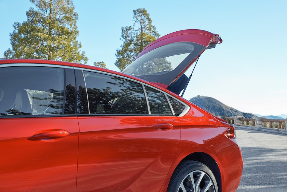 The 2019 Regal GS's exterior sportback opening.