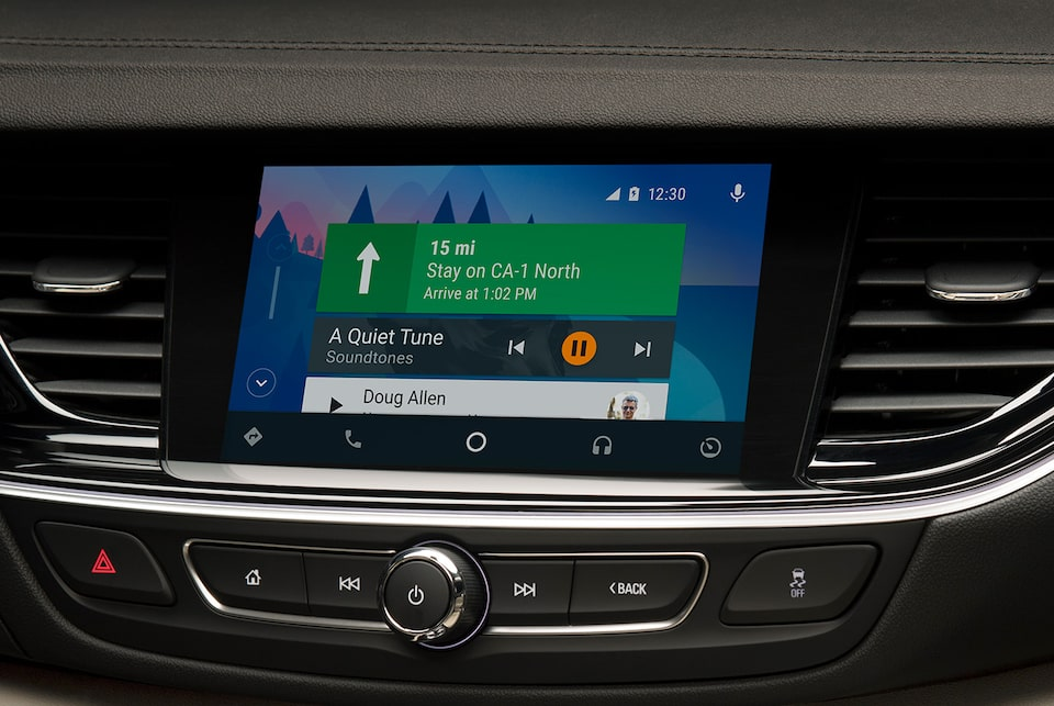 2020 Regal Sportback technology: support for Android Auto compatibility.