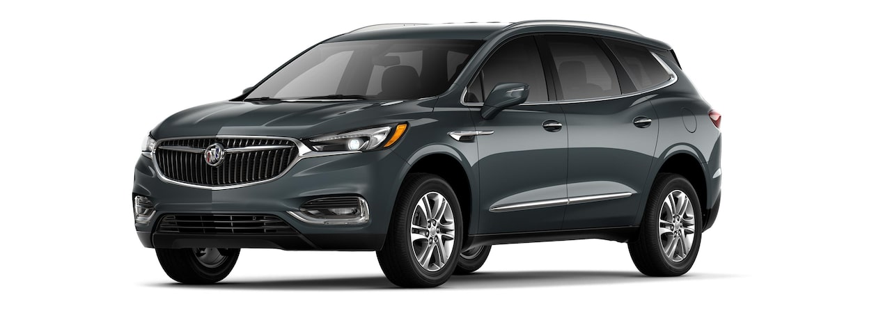 The 2019 Buick Enclave in Dark Slate Metallic.