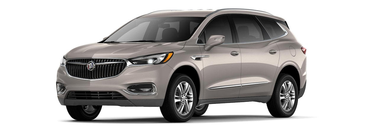 The 2019 Buick Enclave in Pepperdust Metallic.