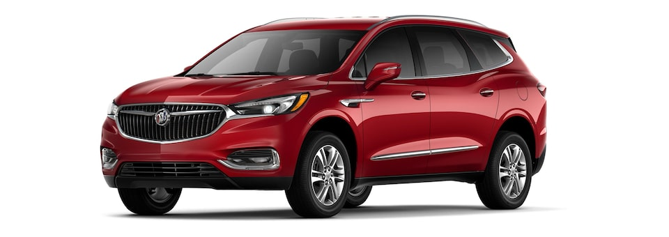 The 2019 Buick Enclave in Red Quartz Tintcoat.