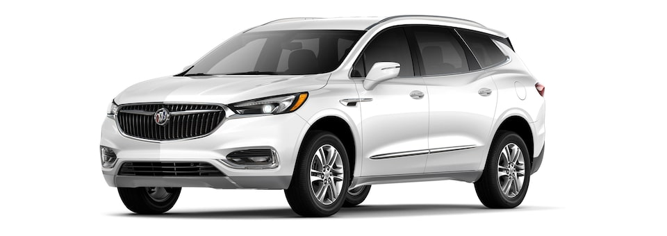 The 2019 Buick Enclave in White Frost Tricoat.