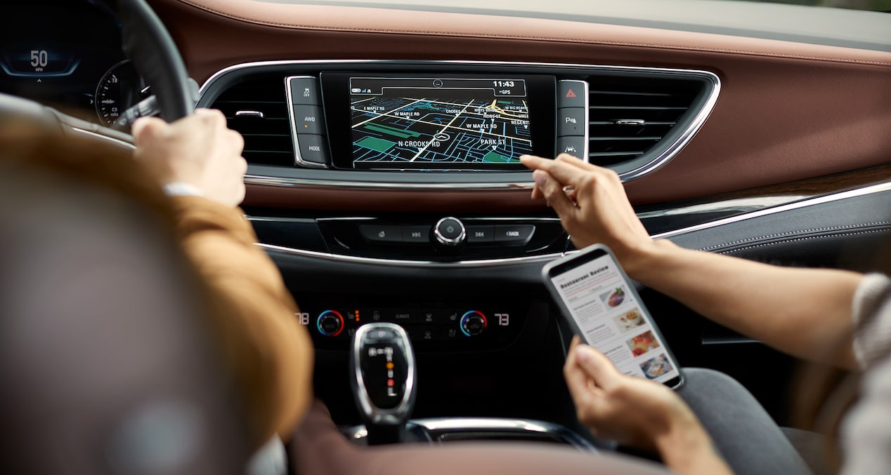 Buick Enclave technology: available Navigation system.