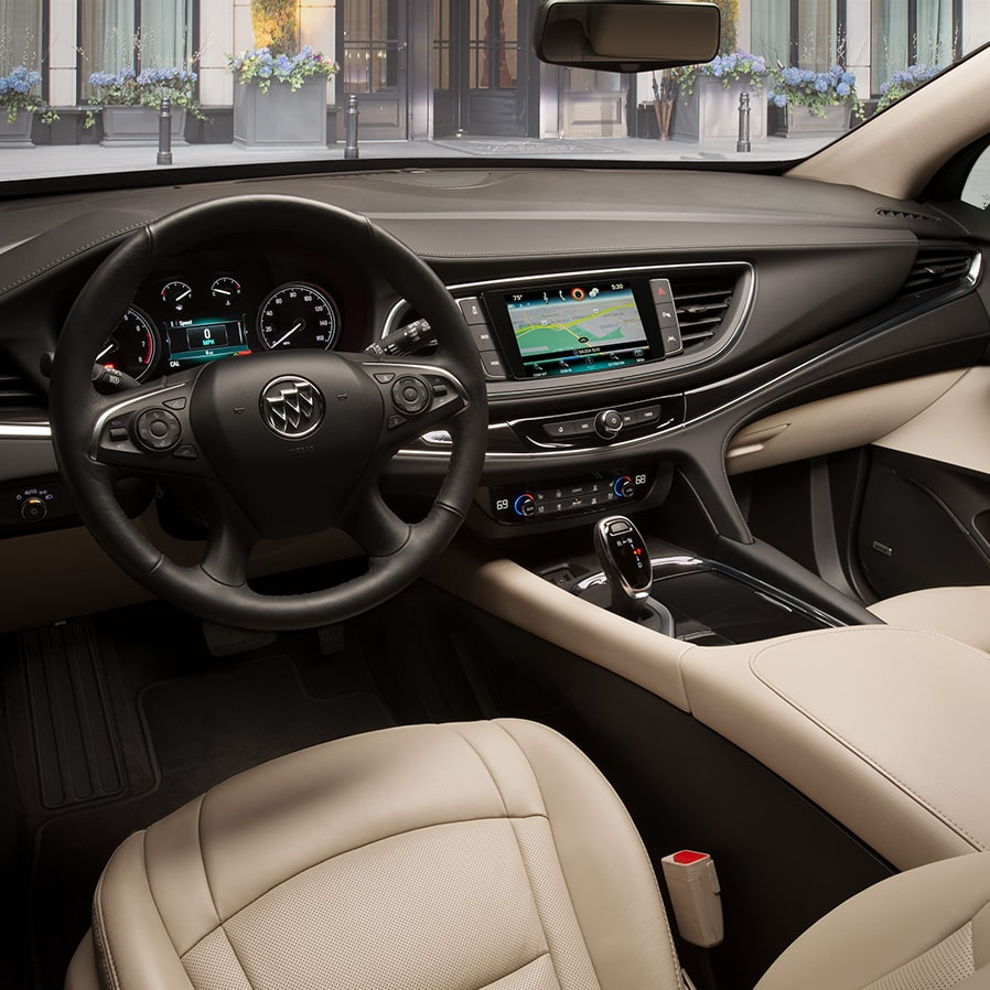 Interior of the 2019 Buick Enclave mid-size luxury SUV.