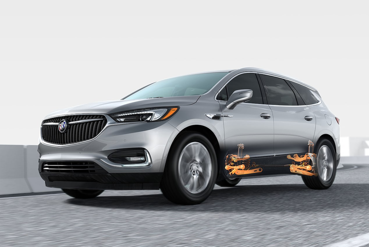 2019 Enclave performance: 5-link rear suspension system.