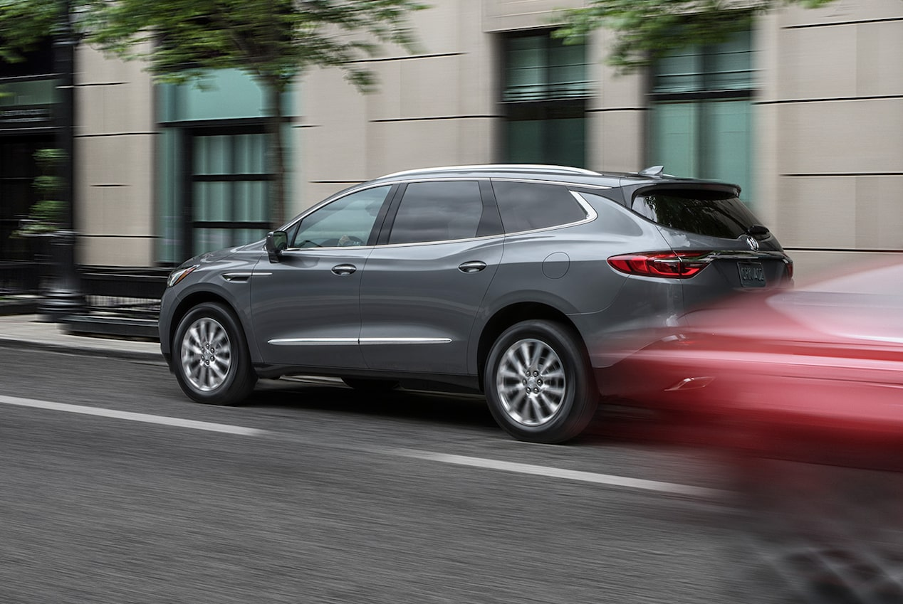 2019 Enclave safety: available Low Speed Forward Automatic Braking.