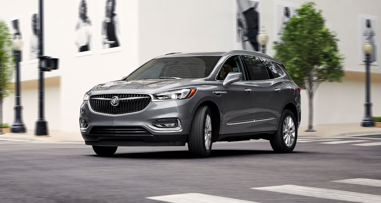 Buick Enclave safety: available Front Pedestrian Braking with bicyclist detection.