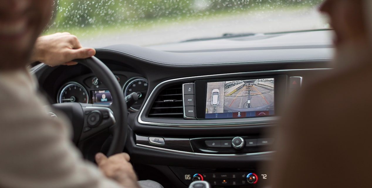 The available Surround Vision and Rear Cross Traffic Alert in the Buick Enclave SUV.