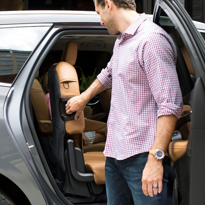 Buick Enclave's available power-folding split third-row seating.