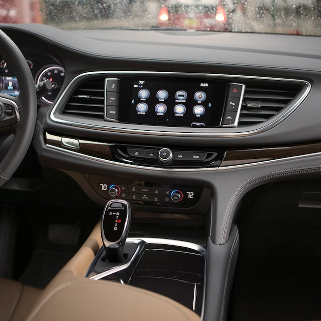 2019 Enclave technology: 8-inch diagonal Buick Infotainment System touchscreen.