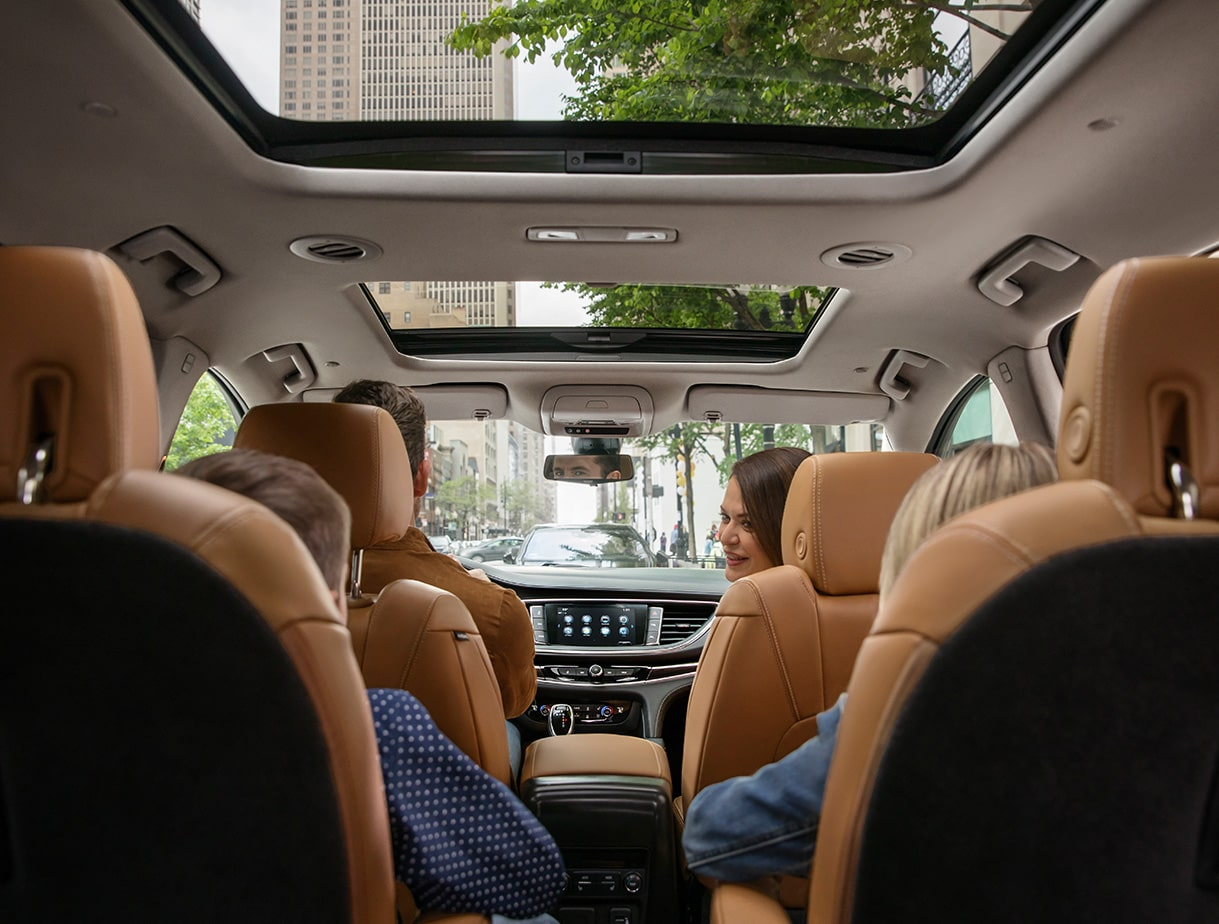 Interior of the Buick Enclave.