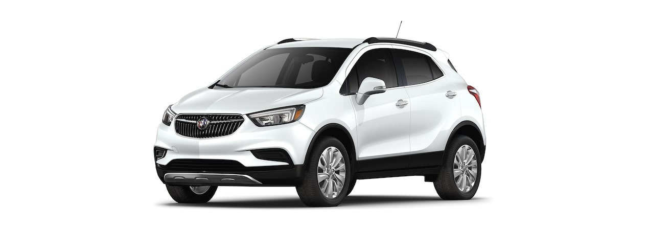 2019 Buick Encore in Summit White.