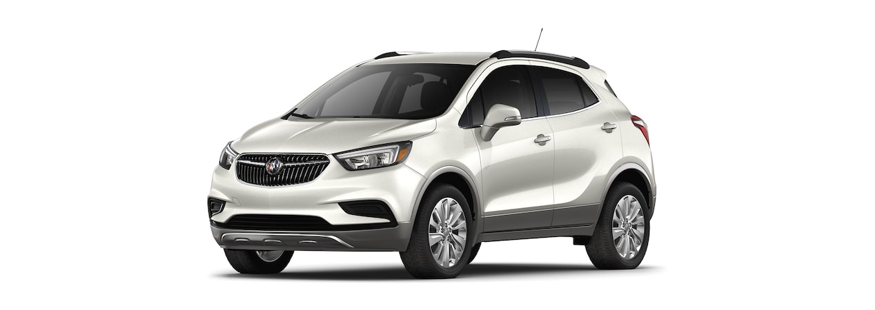 2019 Buick Encore in White Frost Tricoat.