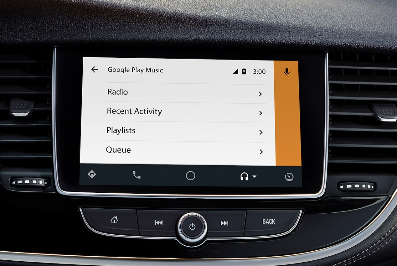 Android Auto connectivity in the 2019 Encore SUV.
