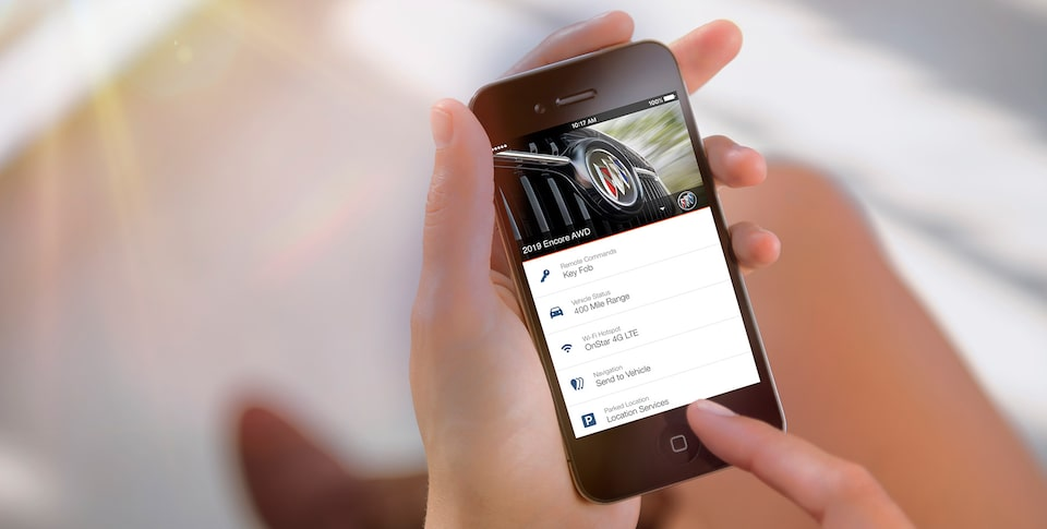 2019 Encore's available myBuick mobile app.