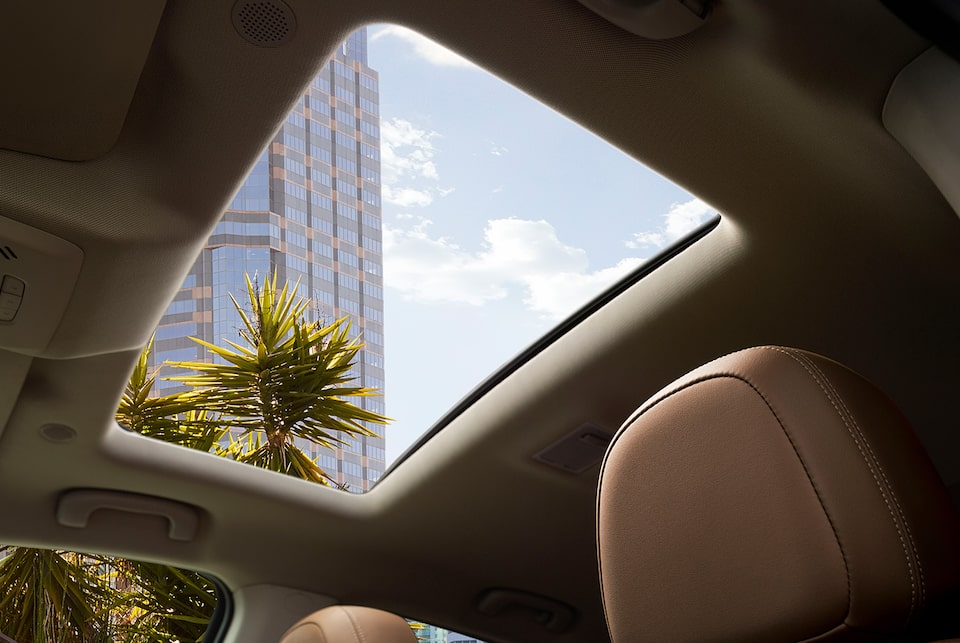 2019 Buick Encore's available expansive power sunroof.