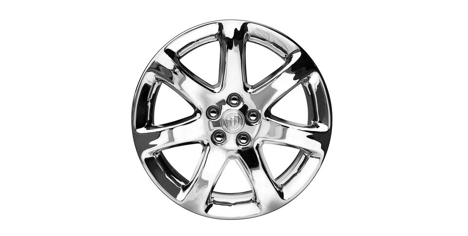 18-inch, 7-spoke chromed aluminum wheels, available on Encore Essence trim.