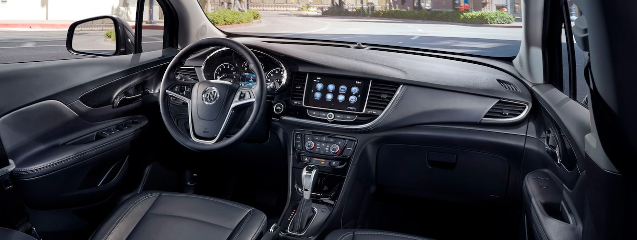 Interior of the 2019 Buick Encore small luxury SUV.
