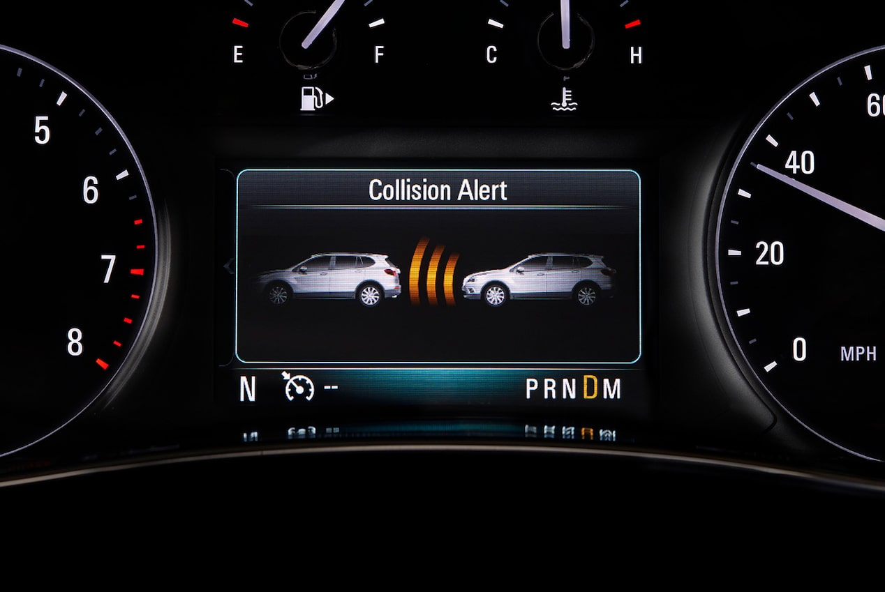 Available Forward Collision Alert inside the 2019 Buick Encore.