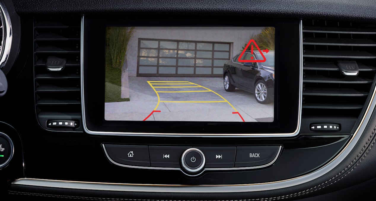 The 2019 Buick Encore small SUV with available Rear Cross Traffic Alert feature.