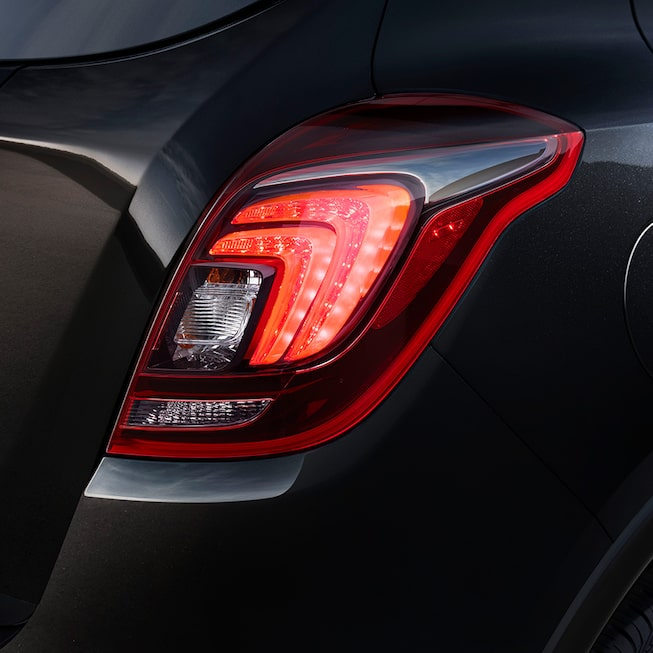 2019 Encore's tail lamps with LED accents and integrated backup lights.