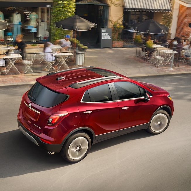 Side exterior profile of the Buick Encore.