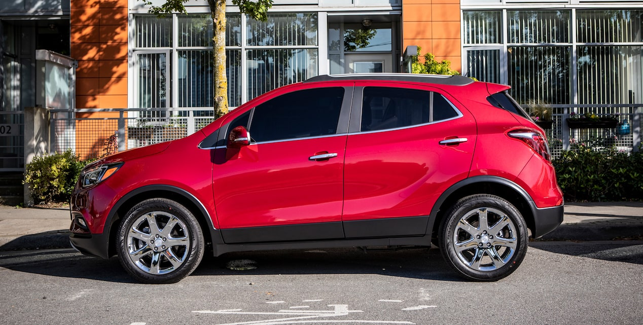 Exterior of the 2019 Buick Encore small SUV.